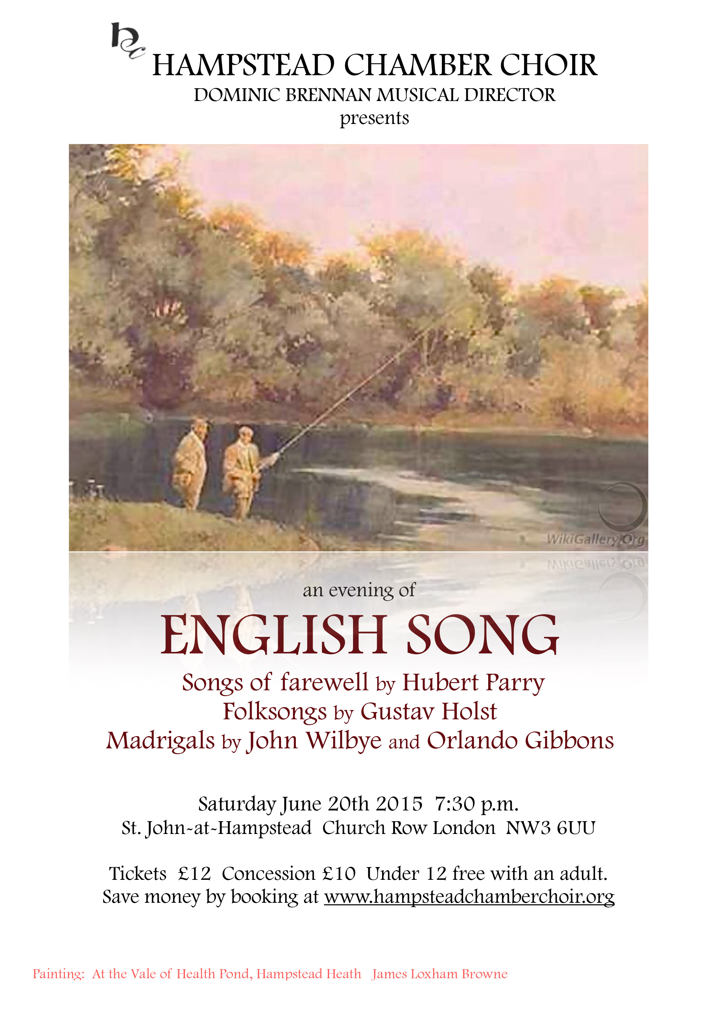 English Song concert poster