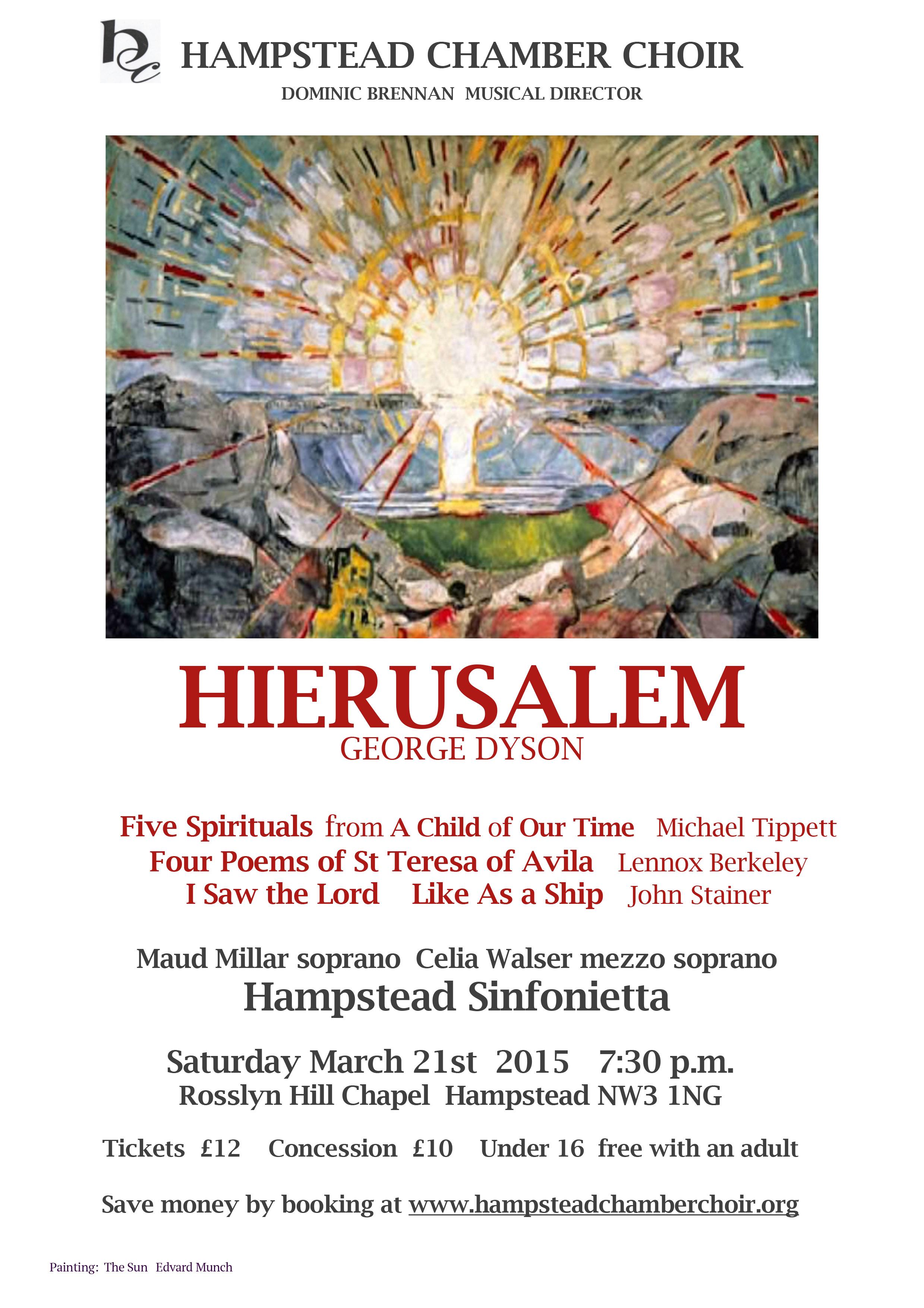 Hierusalem concert poster